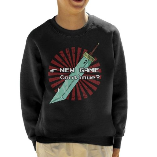Final Fantasy New Game Screen Kid's Sweatshirt