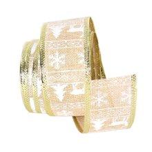 DIY Ribbon Christmas Decor Ribbon for Gift Bows [Gold]