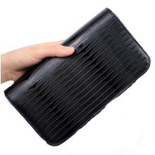 Hair Scissors Bag Hair Durable Feather Pattern Bag Hair Stylist Hand Bag, Black