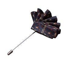 High-end Ribbon Lapel Stick Boutonniere Pins Suit Lapel Pins for Wedding, #08
