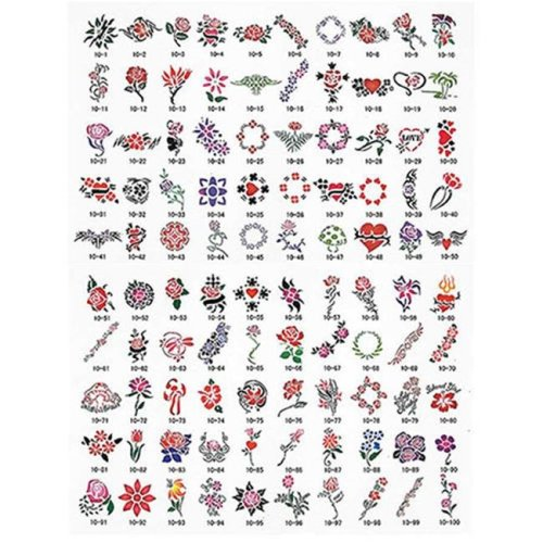 Paasche SB-10 100 Designs Tattoo Stencil Book