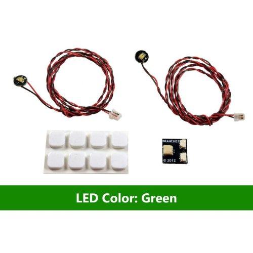 Brickstuff Green Pico LED Light Board 2-Pack - LEAF01-PGR-2PK