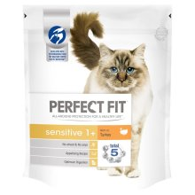 Perfect Fit Cat Complete Sensitive Turkey 750g (Pack of 3)