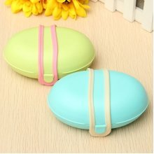 Candy Color Travel Soap Box Holder Silicone Lock Sealed Waterproof Plastic Soap Dish Case