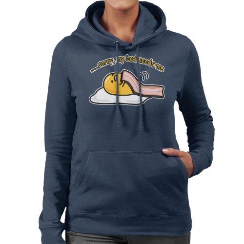 Gudetama Sorry My Bed Needs Me Women's Hooded Sweatshirt