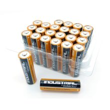 24 x Duracell AA Industrial Tub Battery MN1500 Alkaline Replaces Procell Long Expiry