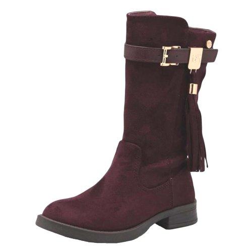 Xti Black Faux Suede Fashion Boots