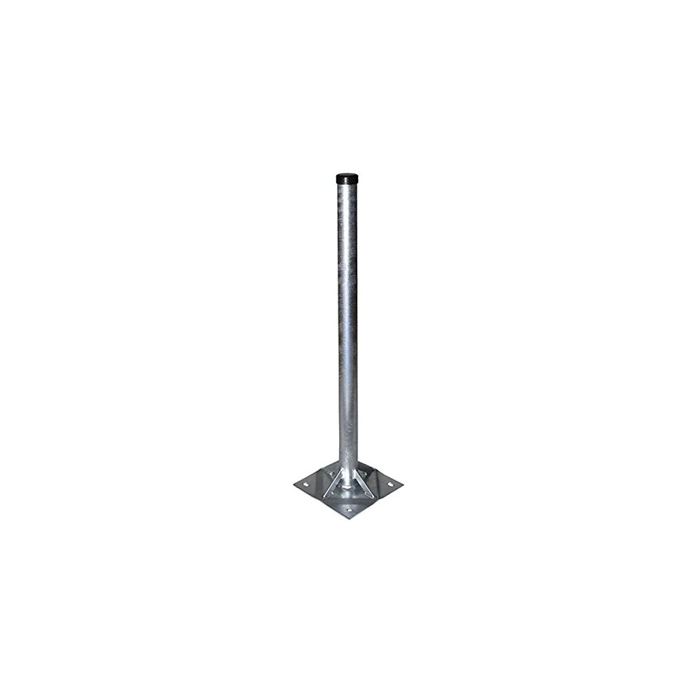 Satix SSTF00200 pole stand 100 cm with 60 mm mast tube for satellite dish  or aerial galvanized steel