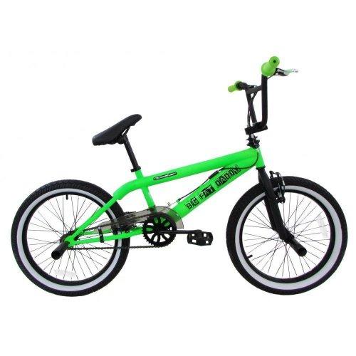 "2019 Rooster Big Daddy Kids 20"" Wheel Fat Tyre BMX Bike Gyro Stunt Pegs RS902"