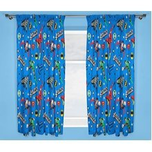 Justice League 'inception' 72 Inch Drop Curtain Set, Multi-colour - Inception -  justice league inception curtains dc 66 x 72 new 66x72 drop single