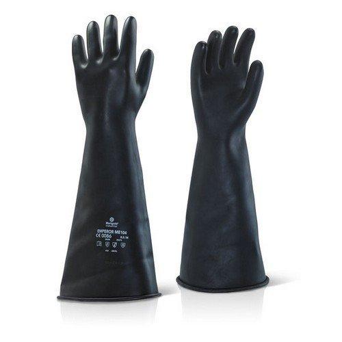 "Ansell ILMW1708 Industrial Latex Medium Weight Gauntlets 17"" Size 7.5-8"