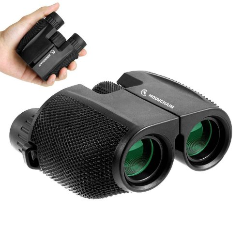 Mounchain Kids Binoculars, 10x25 Compact Binoculars, Waterproof, Foldable, and with Low Light Night Vision, suitable for Sightseeing, Hiking, Bird...
