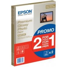 Epson Premium Glossy Photo Paper - 2 for 1), DIN A4, 255g/m2, 30 Sheets photo paper