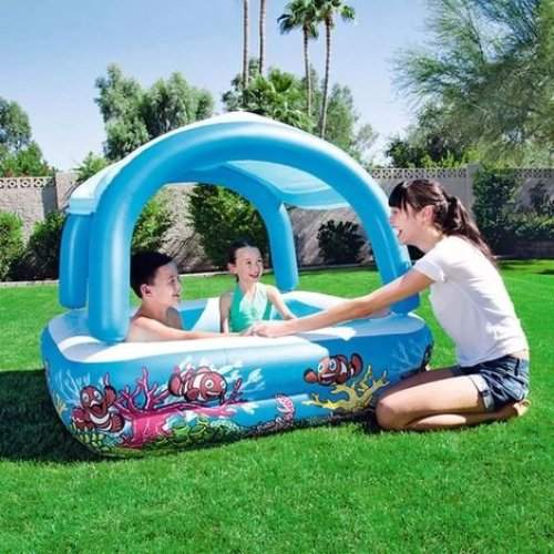 Bestway Blue Canopy Play Pool 52192 | Shaded Kids' Pool