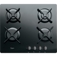 Black Ceramic Glass 4 Burner Gas Hob  Whirlpool AKT 6400 NB