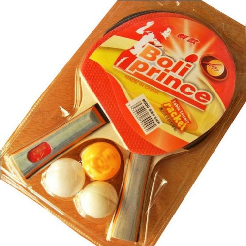 Table Tennis Racket Cheap Ping Pong Racket with Three Balls