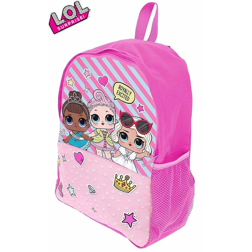 039d3a491b School Bag for Girls Pink Backpack LOL Dolls Confetti Pop Back to School ...