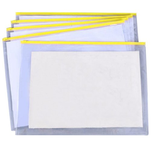 Transparent A3 Plastic Zip Wallet 10pk | A3 Plastic File