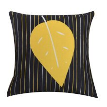 Yellow Leaves Leaves Cotton and Linen Fashion Pillow