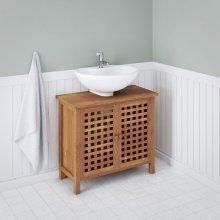 vidaXL Sink Cabinet Solid Walnut Wood 66x29x61 cm