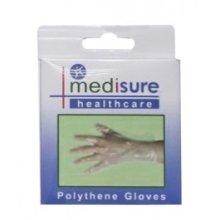 25 Pack Medisure Polythene Gloves - Large 25pc Medical First Aid Laboratory -  medisure polythene gloves pack 25 large 25pc medical first aid