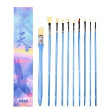 10pcs Professional Paint Brushes Artist for Watercolor Oil Acrylic Painting