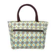 Ladies Fashionable Printed Tote Bag Zipper Purse Handbag
