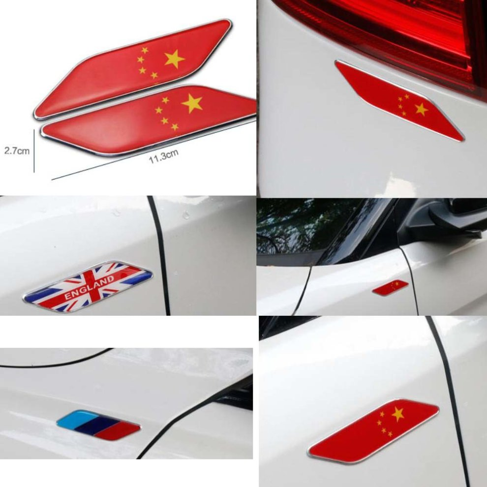National flag design metal sticker decal for car vehicle decor 11 3 x 2 7 cm 4 4