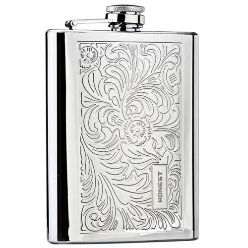 Stainless Steel Hip Flask 8 Oz Hip Flask Portable Portable Flask(Silver)