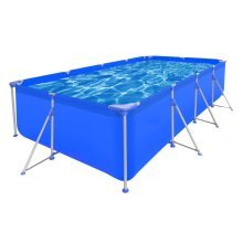 Above Ground Swimming Pool Steel Rectangular 394 x 207 x 80 cm