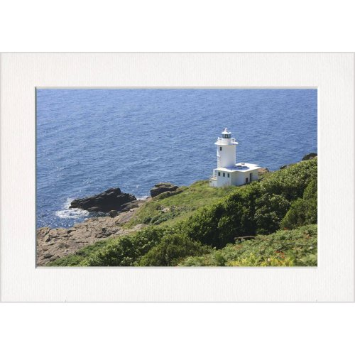 Tater Du Lighthouse Cornwall Print in a Textured Card Picture Mount to put into your own frame