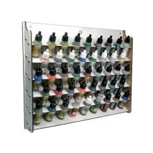 17ml Wall Mounted Paint Display Av Acrylics - Storage Rack 45 Bottle Val26010 -  av acrylics wall mounted paint display 17ml storage rack 45 bottle