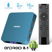 Android TV Box Superpow TV Box Android 8.1 2GB RAM 16GB ROM 2.4G Voice Remote Rockchip 3328 Quad-core Cortex-A53 Up to 1.5GHz WiFi Support 4K Full...