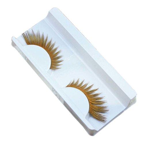 3 PCS Creative Art Yellow Inkjet Performance False Eyelashes