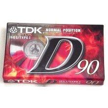 TDK D90 D-90EB Blank Cassettes IEC I / Type I Normal Position