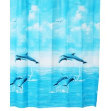 Waterproof Dolphins Shower Curtains Door Curtains
