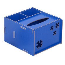 DIY Wooden Cosmetics Storage Box/tissue box/Stationery Holder,Deep Blue