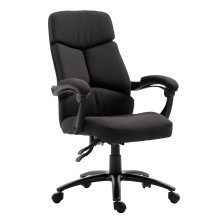 HOMCOM High Back Office Chair, Adjustable 360 Degree-Black