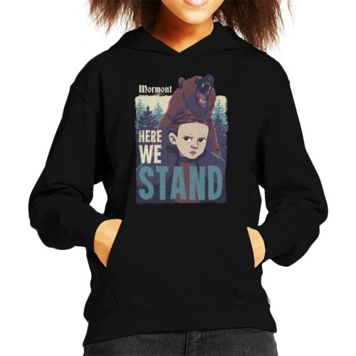 Lyanna Mormont Here We Stand Game Of Thrones Kid's Hooded Sweatshirt