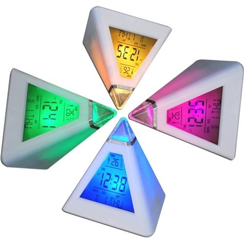 Digiflex Multicoloured Digital Alarm Clock | Colour Changing LED Clock