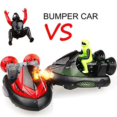 RC Bumper Cars Race *Green VS Red* - Set of 2 Stunt Bumpers RED 27MHz / GREEN 40MHz
