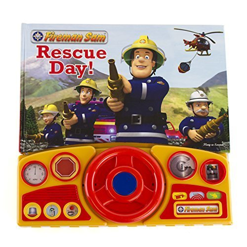 Fireman Sam Novelty Gift Book - Rescue Day! (Steering Wheel Book)