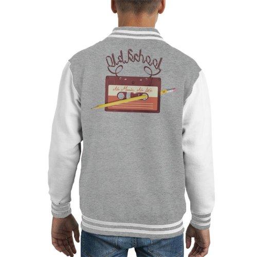 Old School Casette No Music No Life Kid's Varsity Jacket