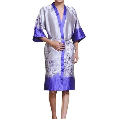 Retro Men's Kimono Pajamas Khan Steamed Clothes Men's Bathrobes Kimono Robes