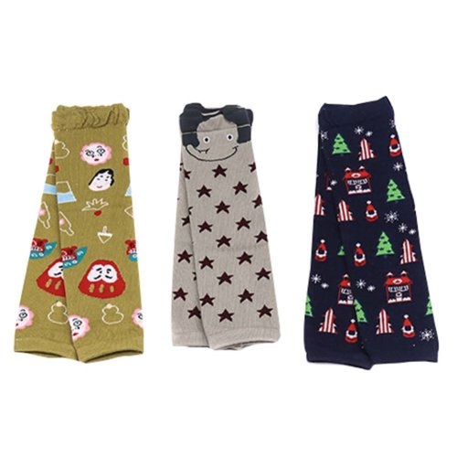 3 Sets 0-3 Years Baby Socks Baby Leggings Comfy Leg Guards