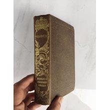 "*RARE* 1855 ""WYANDOTTE"" JAMES FENIMORE COOPER FICTION HARDBACK BOOK"