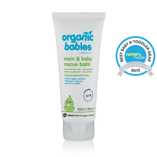 Green People Organic Babies Mother & Baby Rescue Balm Scent Free 100ml