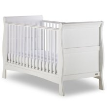 Izziwotnot Bailey Sleigh Cot Bed - White