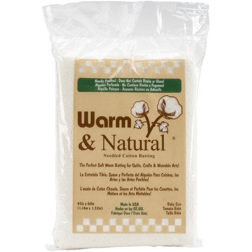 "Warm & Natural Cotton Batting-Crib Size 45""X60"" FOB: MI"
