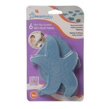Dreambaby Mini Suction Bath Mats 6 Pack in Blue